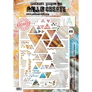 AALL & Create TOTALLY TRIANGULAR A4 Stencil aal10099