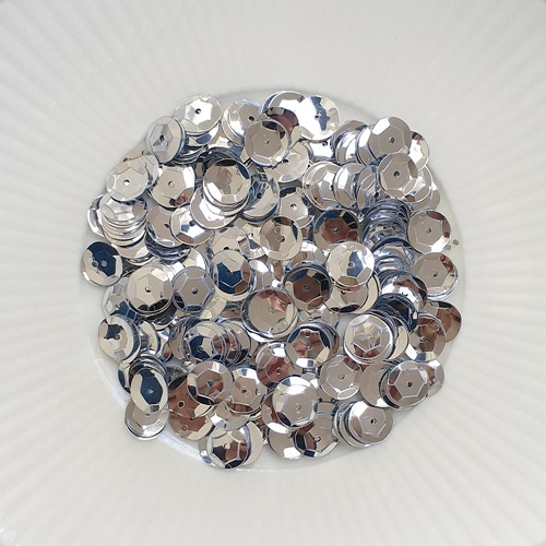 Little Things From Lucy's Cards METALLIC SILVER 8MM Sequin Mix LBSM50 Preview Image