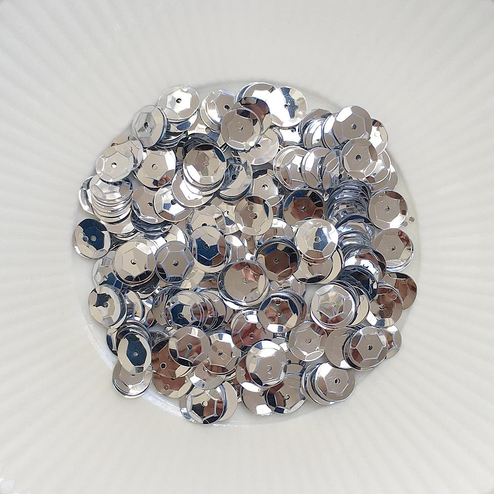 Little Things From Lucy's Cards METALLIC SILVER 8MM Sequin Mix LBSM50 zoom image