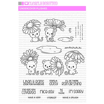 Clearly Besotted UNDERCOVER PLUSHIES Clear Stamps