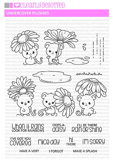 Clearly Besotted UNDERCOVER PLUSHIES Clear Stamps zoom image