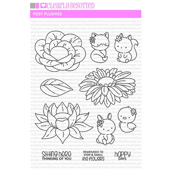 Clearly Besotted POSY PLUSHIES Clear Stamps