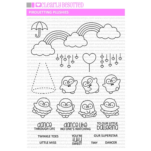 Clearly Besotted PIROUETTING PLUSHIES Clear Stamps Preview Image