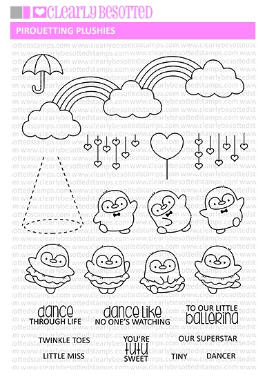 Clearly Besotted PIROUETTING PLUSHIES Clear Stamps zoom image