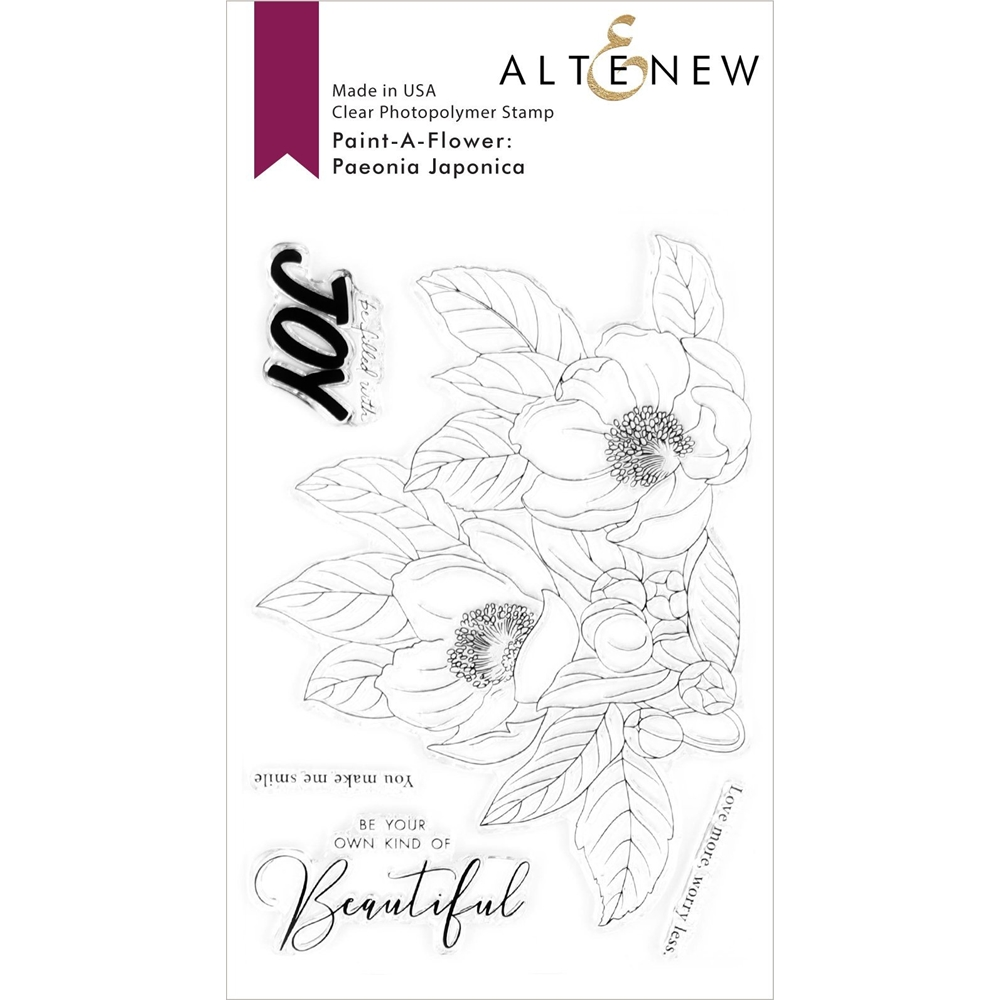 Altenew PAINT A FLOWER PAEONIA JAPONICA Clear Stamps ALT4290 zoom image