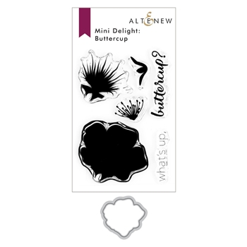 Altenew MINI DELIGHT BUTTERCUP Clear Stamp and Die Bundle ALT4289