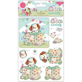 Craft Consortium THE GIFT OF GIVING 3D DECOUPAGE CCDPAK004