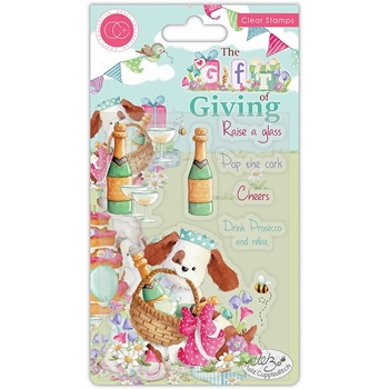Craft Consortium THE GIFT OF GIVING POP THE CORK Clear Stamps CCSTMP042