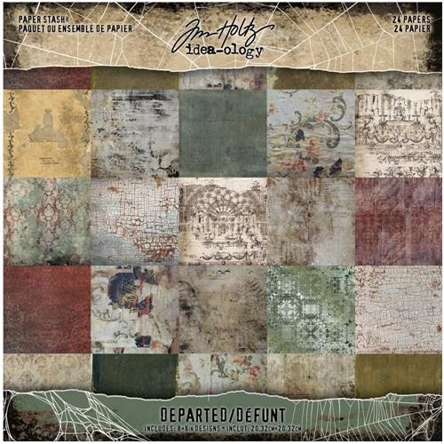 Tim Holtz Idea-ology Mini Paper Stash DEPARTED th94054 Preview Image