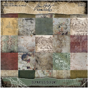Tim Holtz Idea-ology Mini Paper Stash DEPARTED th94054