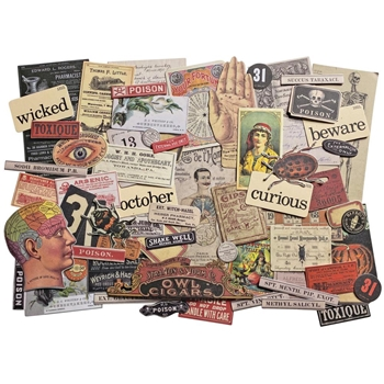 Tim Holtz Idea-ology HALLOWEEN Ephemera th94055