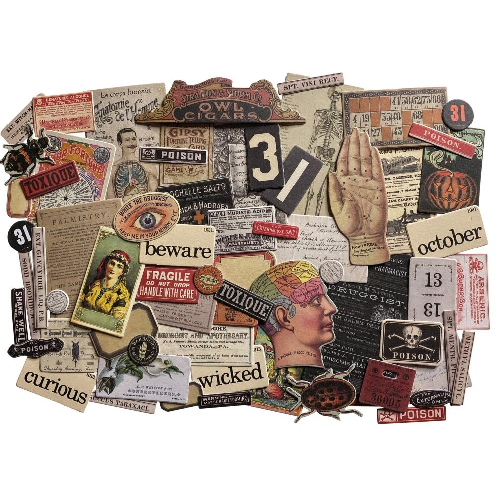 Tim Holtz Idea-ology HALLOWEEN SNIPPETS Ephemera th94056 zoom image