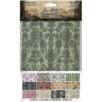 Tim Holtz Idea-ology HALLOWEEN Worn Wallpaper th94058