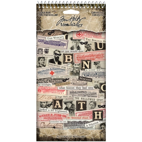 Tim Holtz Idea-ology CURIOSITIES Sticker Book th94059 Preview Image