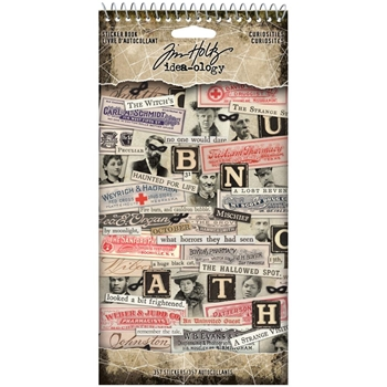Tim Holtz Idea-ology CURIOSITIES Sticker Book th94059