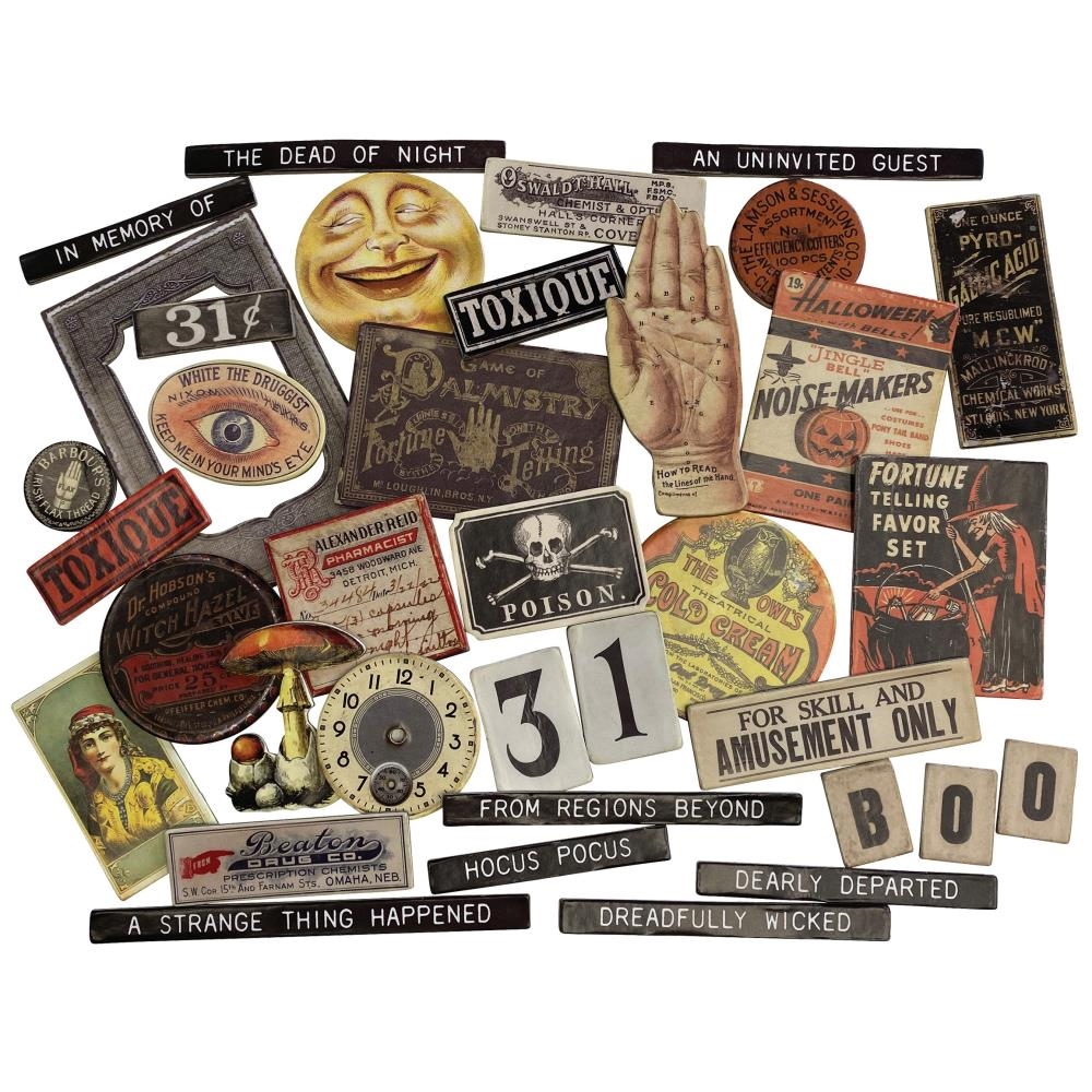 Tim Holtz Idea-ology HALLOWEEN BASEBOARDS th94060 zoom image