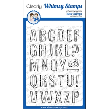 Whimsy Stamps ALFADOODLES Clear Stamps CWSD331