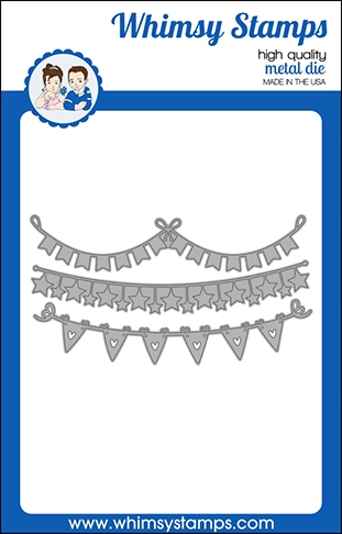 Whimsy Stamps SLIMLINE BUNTING BORDERS Dies WSD478 Preview Image