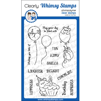 Whimsy Stamps HAPPY HAMSTERS Clear Stamps CWSD330