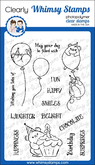 Whimsy Stamps HAPPY HAMSTERS Clear Stamps CWSD330 zoom image