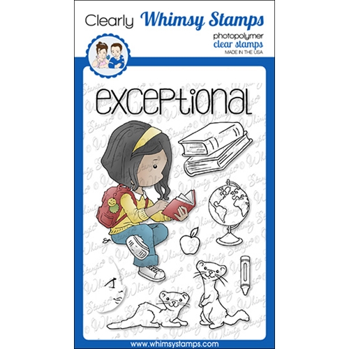 Whimsy Stamps POLKA DOT PALS EILEEN Clear Stamps BS1015 Preview Image