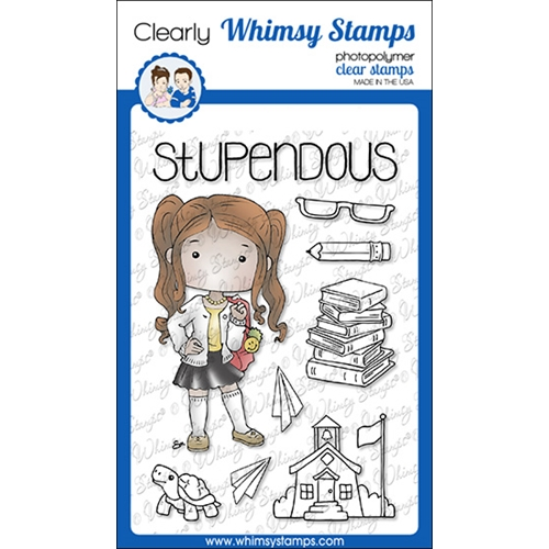 Whimsy Stamps POLKA DOT PALS DELIA Clear Stamps BS1014 Preview Image