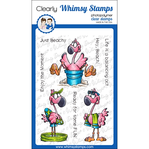 Whimsy Stamps FLAMINGO FUN Clear Stamps DP1049 Preview Image