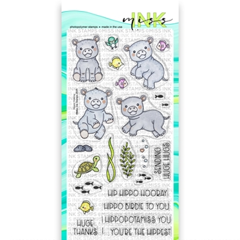 RESERVE Miss Ink Stamps HIPPO HOORAY Clear Set 720st01