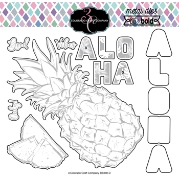 Colorado Craft Company BIG AND BOLD ALOHA PINEAPPLE Dies BB338-D