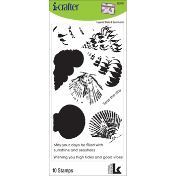 i-crafter LAYERED SHELLS Clear Stamps 222013