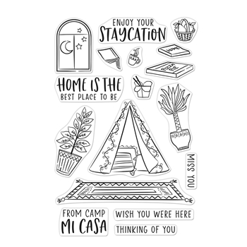 Hero Arts Clear Stamps CAMP MI CASA CM475