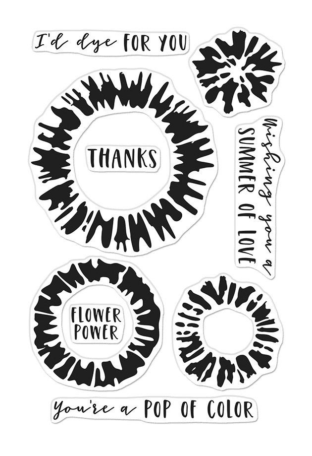 Hero Arts Clear Stamps TIE DYE CM474 zoom image