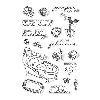 Hero Arts Clear Stamps BUBBLE BATH CM473