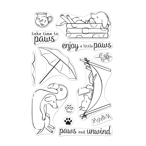 Hero Arts Clear Stamps LOUNGING PUPS CM472 Preview Image