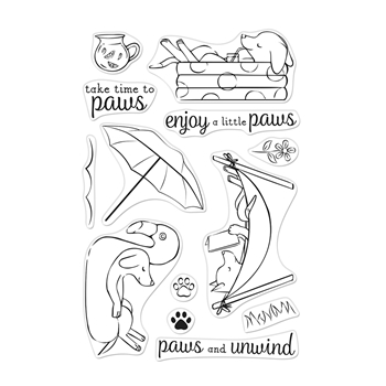 Hero Arts Clear Stamps LOUNGING PUPS CM472