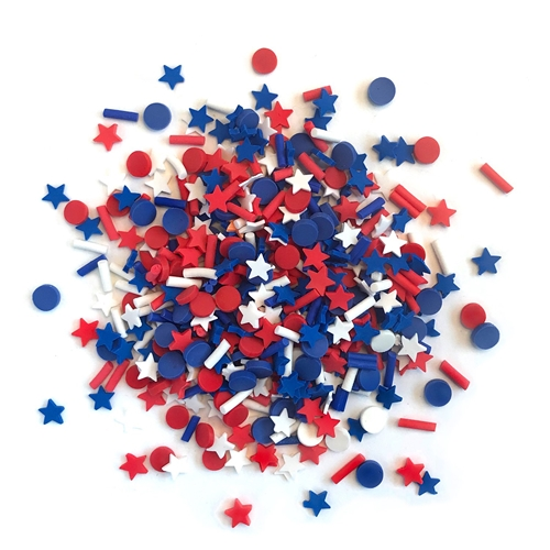 Buttons Galore and More Spinkletz STAR SPANGLED Embellishments NK114 Preview Image