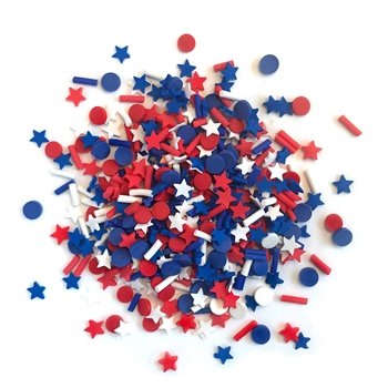 Buttons Galore and More Spinkletz STAR SPANGLED Embellishments NK114