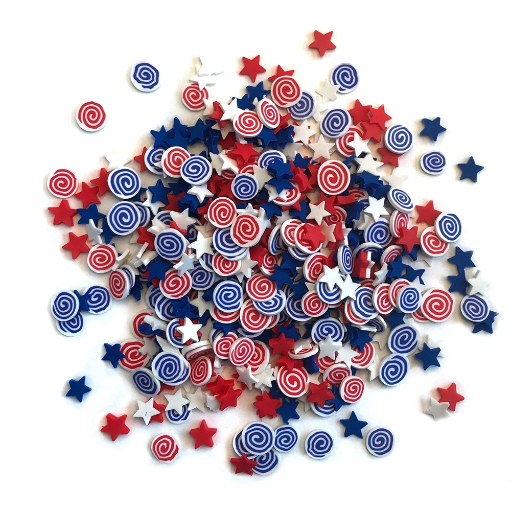 Buttons Galore and More Spinkletz FIRECRACKERS Embellishments NK113 zoom image