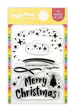 Waffle Flower 2 STEP MERRY CHRISTMAS Clear Stamps 420071* Preview Image