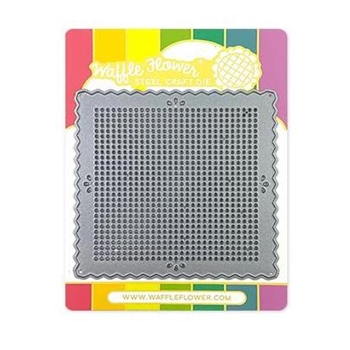 Waffle Flower STITCHABLE PINKING SQUARE Die 310413