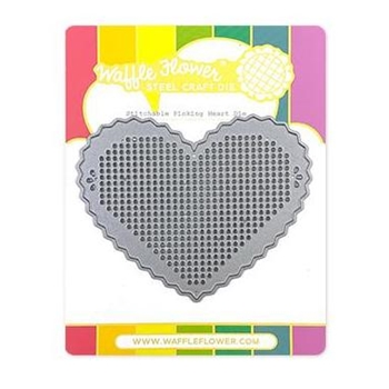Waffle Flower STITCHABLE PINKING HEART Dies 310411