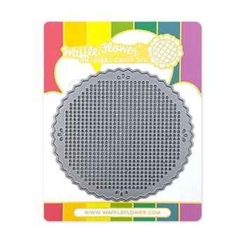 Waffle Flower STITCHABLE PINKING CIRCLE Die 310410