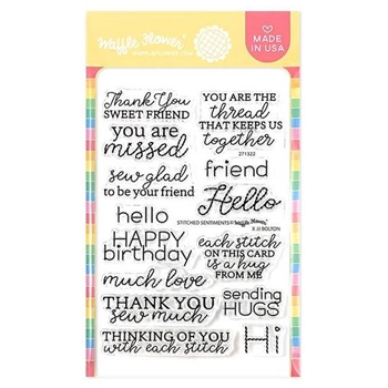 Waffle Flower STITCHED SENTIMENTS Clear Stamps 271322