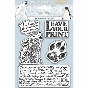 Stamperia LEAVE YOUR PRINT Cling Stamps wtkcc178
