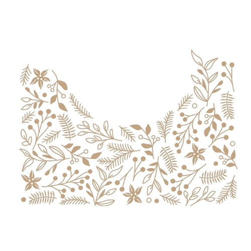 GLP-186 Spellbinders CHRISTMAS FOLIAGE BACKGROUND Glimmer Hot Foil Plate Preview Image
