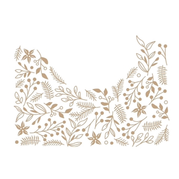 GLP-186 Spellbinders CHRISTMAS FOLIAGE BACKGROUND Glimmer Hot Foil Plate