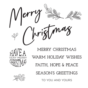 STP-023 Spellbinders TO YOU AND YOURS Clear Stamps