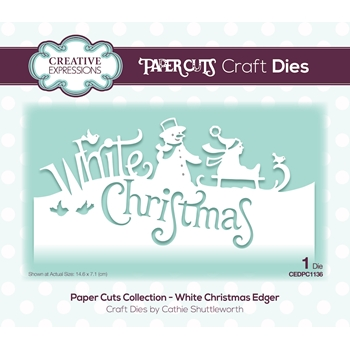 Creative Expressions WHITE CHRISTMAS Paper Cuts Collection Die cedpc1136