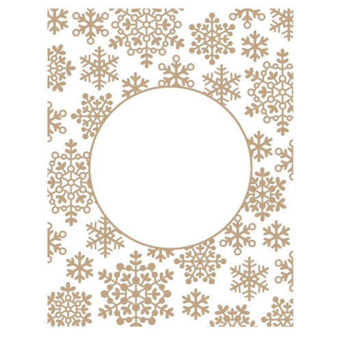 GLP-201 Spellbinders SNOWFLAKE SPARKLE BACKGROUND Glimmer Hot Foil Plate Preview Image