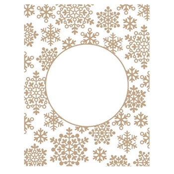 GLP-201 Spellbinders SNOWFLAKE SPARKLE BACKGROUND Glimmer Hot Foil Plate